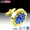 High quality gold enamel custom cufflinks and tie clips.
