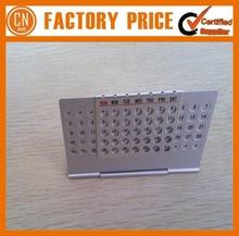 Logo Custom Promotion Cheap Aluminum Perpetual Calendar