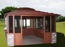hot sale popular high quality dark red yard foldable pop up gazebo