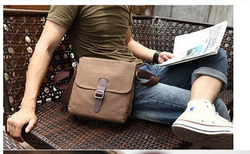 New Arrival High Qaulity Canvas+Cow Leather Men Canvas Bag Shoulder Messenger Bag Tote
