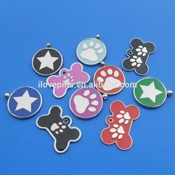 Coloured Bone /Round Shape-Pet ID Name Tag Dogs