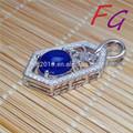 Pd-s-0050 lapis lazuli s925 precio colgante de plata, lapis lazuli natural colgante