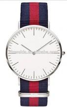 Watch manufacturer Custom logo for Nylon strap japan movt quartz watch stainless steel back