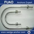 Por inmersión en caliente galvanizado U tipo anchor tornillos tuercas arandelas de grado 4.8