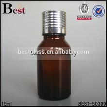 alibaba china metal cap bottle, latest type essential oil bottle fancy stylish, aluminum silver screw cap bottle for massage oil