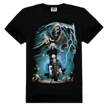 mens gothic skull t-shirts,skeleton printed t-shirt,skeleton t shirt
