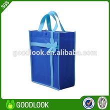 reusable non woven fabric ribbon tie gift bags