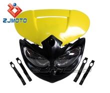 Universal ZJMOTO Motorcycle streetfighter Headlight Fairing Motos Enduro Dirt bike headlights fit for KTM EXC SX SXF XC
