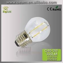 3W g45 filament led bulb e27 e14