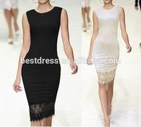 NEW China Ladies designed Elegant Tunic Lace Crochet Bodycon Shift Party Evening Career Pencil Dress plus size SV001577