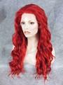 Party queen cor vermelha cosplay peruca de cabelo sintético para bonecas
