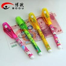 New Item ball pen with LED light,secret pen,torch pen for kids