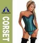 Topmelon overbust satin fabric steel bone overbust sexy women cheap corset