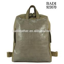 leather backpack crocodile fashion backpack bag pu material backpack school bag
