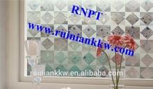 Elegance RNPT 3D Laser PVC Static Window Film TMV-001 white color ----Fancy 3D effect glass film hot sales in European
