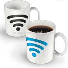 Custom Hot Spot Color Changing Mug With Wifi Signal,Hot Spot Heat-Sensing Mug
