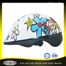 C-001 shiny cartoon kids safety cute bike helmet