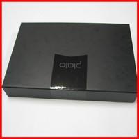 Free Risk Rectangle Black Printing Matte Paper Magnet Printing Men's Shirt UV Costing Logo Black Box