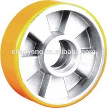 EUROPE model wheel HAND truck YELLOW pu Al core wheel 160*50*57