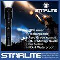 starlite 2015 poderoso 500lm ipx7 recarregável 220v lanterna led