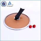 Tempered glass pot cover with single long handle