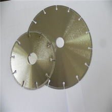 segmented key slot electroplated bond diamond cutting disc