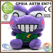 Assortment of plush soft purple stuffed animals