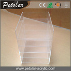 factory 5 layer storage clear wall mounted acrylic display case