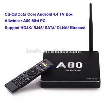 wholesale CS-Q8 Octa Core Android4.4 TV Box smart digital tv converter set top box