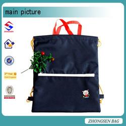 Rope handle drawstring bag for kids nylon custom drawstring bag from china mainland