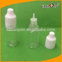 Square Cigarette Smoke Oil Plastic Dropper Bottle