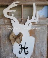 2015 wooden Holiday Wreath wooden Door Hanger in China