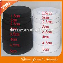 1.50cm-5.00cm white black elastic band