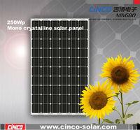 1kw solar panel,250W*4pcs paneles solares for solar project