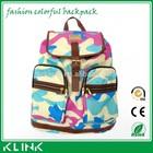 2015 travelling sport waterproof leather canvas hiking laptop school backpack bag