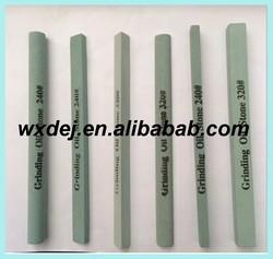 Triangle green silicon carbide whetstone, grinding oil stone