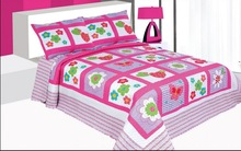 2015 Rose Red Girl Flower Butterfly Printed Full Size Microfiber Quilt Sheet