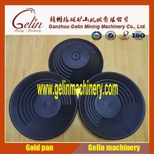 round plastic gold pan for river sand gold separation