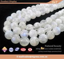 Semi precious natural round loose moonstone gems export