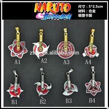 Wholesale Anime Cartoon Write Round Eye Naruto Rotatable Pendants Necklace