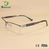 High quality lightest pure titanium optical rimless eyeglass frame for man