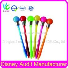 Cheap ball pen for promotion LED ballpoint pen springs button bp055