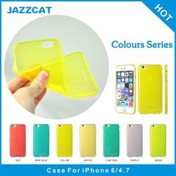 JAZZCAT high quality fashion design slim ultra thin soft tpu cheap mobile phone case for iphone 6