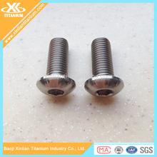 Best selling ISO7380 titanium button head bolt