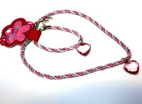 Cotton thread Necklace Design with Plastic bead chain pendant necklace