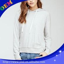 Tri- blend solid grey hoody