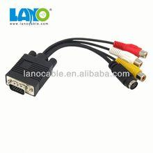 HOT! China manufacture vga to av converter cable