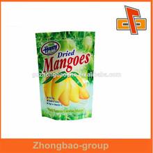 OEM Stand up zipper plastic food packaging bag for dried fruit/Mangoes packaging