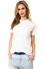 Promotinal cheap women white tshirt