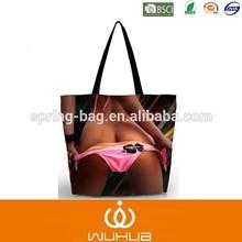 Sexy lady digital printing women tote handbag